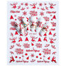 Nail Art Stickers Christmas Merry Santa Xmas Transfers Decor Claus Collection