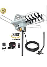 150 Miles HDTV Outdoor Amplified Antenna HD TV 36dB Rotor Remote 360°