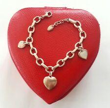 ESPRIT Designer Armband, 925 Silber Armband mir 3 Herz Anhänger