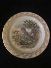 1985-Lenox China Nature's Nursery Snow Leopards  00006000 Collect.Plate Lynn Chase No Box