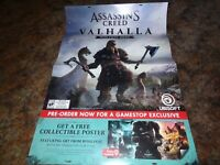 Huge Assassin's Creed Valhalla 33 x 48 Promo Store Display Poster