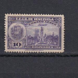 "VENEZUELA Scott C236 Used, 1949 10B Airmail, ""Plane & Oil Wells,"""