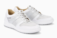 Womens Mephisto Sparkle White Leather Ladies Laced Shoes Trainers UK Size 7.5