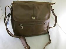 Genuine Leather Women Crossbody Handbag Messenger Bag Cowhide Brown