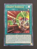 Urgent Schedule, Yugioh! Ultra Rare, 1st Edition, Near Mint, LED4-EN037