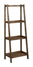 """New Ridge Home Goods 60"""" Dunnsville 4-Tier Espresso Birch Ladder Shelf 2025~ESP"""