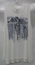 Billabong Womens Traveling Flag Muscle Tank J451JTRA CoolWip White Size Small