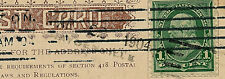 HAYDENVILLE, MASS. 3 LINE R.F.D. STRAIGHT LINE CANCEL- USED AS CANCELLING METHOD