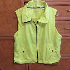 Women's Ralph Lauren L-RL ightweight rain vest sz XL neon yellow brand new NWOT