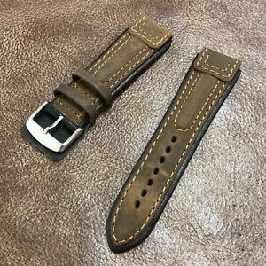 WHOLESALE 5pcs Aviator Pilot Ridged Leather Watch Strap Band Size 22mm #W-55