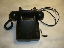 Vintage HAND CRANK Hotel phone, Reception Desk. England stamped pre war 1930's