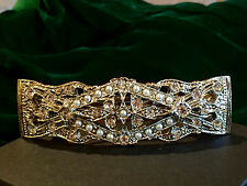 1920s Gatsby Hair Clip | Silver Faux Pearl Bridal Barrette | 1928 Vintage | NEW