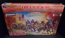 **NEW** Lindberg 1:16 Scale Civil War Horse Drawn Field Artillery Model (Sealed)