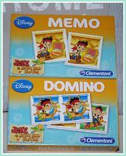 2in1 Spiele Domino und Memory Jake Never Land Piraten Clementoni 🎲