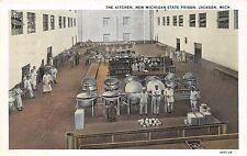 B24/ Jackson Michigan Mi Postcard c1920 State Prison Interior Kitchen Occupation