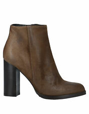 RRP€170 UNLACE Suede Leather Ankle Boots EU37 UK4 US6.5 Worn Look Made in Italy