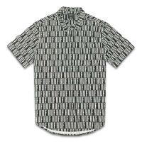 HUF Mens Big Logo Button Up S/S Shirt Black M New