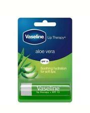 1x Vaseline Lip Therapy Aloe Vera SPF 15 Lip Balm Stick 4g Soothing Hydration