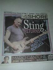 STING COVER ATLANTIC CITY PAPER JUNE 13, 2013 ATLANTIC CITY NEVER READ