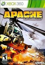 APACHE AIR ASSAULT XBOX 360! HELICOPTER ATTACK AERIAL COMBAT, AH-64, FLY CHOPPER