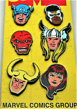 2019 NYCC Marvel Comics Avengers Exclusive Collector 6 Pin Set #2 New MOC