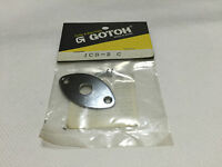 GOTOH JCB-2-C Guitar Bass Cats Eye Output Jack Plate Chrome Made in Japan