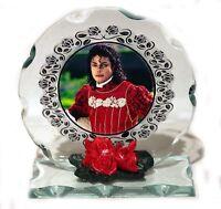 Michael Jackson, Cut Glass Round Plaque  Limited Edition | Cellini-Plaques  #