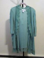 CARDIGAN SWEATER - LACE TRIMED - L - NWOT