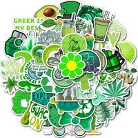 50pcs Green Stickers Girl For Hydro-Flask 50 PCS Waterproof Sticker Skateboard