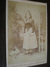 Cdv cabinet photograph Swiss Costume by Richard of Zurich Switzerland 1880s n 2