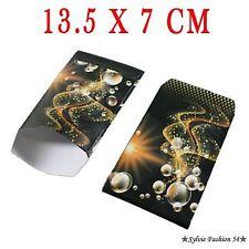 50 POCHETTES SACHETS CADEAUX BIJOUX EMBALLAGE BULLES ARABESQUES 13,5 cm x 7 cm