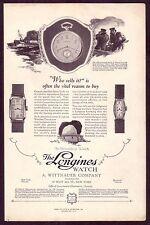 1920s Original Vintage Whittnauer Longines Swiss Pocket Watch Art Deco Print Ad