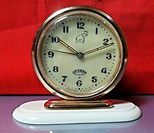 Vintage Alarm Clock DRUJBA USSR Mechanical ДРУЖБА RARE