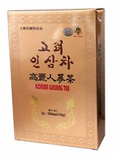 Authentic Korean Gold Instant Ginseng Extract Tea Drink 50 Sachets UK Seller