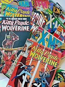 Vintage Comics Lot of 23 Books Marvel DC X-Men Wolverine Superman Flash Bat Man