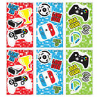 6 Gamer Notebooks - Pinata Toy Loot/Party Bag Fillers Kids Playstation Xbox Boy