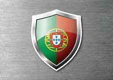 Portugal flag shield sticker 3d effect quality 7 year water & fade proof