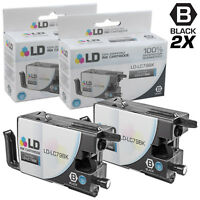 LD © for Brother LC79 2pk Black Extra HY Ink MFC J5910DW J6510 J6710 J6910