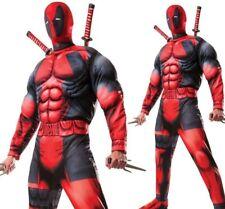 Deluxe Deadpool Mens Costume Marvel Comic Superhero Halloween Fancy Dress Outfit
