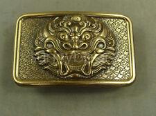 Dragon head Heavy duty Solid Brass Men's Belt Buckle suit for 42mm Belt