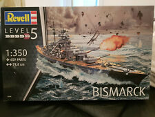 Bausatz Revell Schlachtschiff Bismarck 1:350 neu inkl.Tamiya Holzdeck