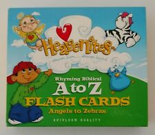 Heavenites Childrens Rhyming Biblical A to Z Large Sturdy Flash Cards