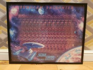 "STAR TREK ""ROMULAN ENCOUNTER"" 22"" X 28"" 3D FRAMED POSTER VINTAGE RARE"