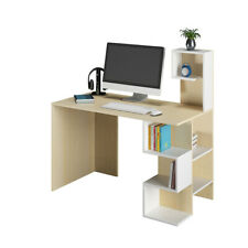 Wooden PC Laptop Table Computer Desk Writing Table Workstation w/shelf Storage