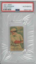 RARE 1921 W551 Tris Speaker Hand Cut Baseball Card PSA Authentic CD37