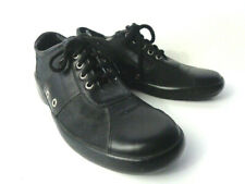 COACH Atlantic Mens US 7.5M Black Leather & nylon Lace Up Oxford Shoes ITALY