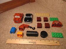 Lego Duplo Disney Cars Movie Sheriff Car Piston Tow Mater Brick Accessories 5814