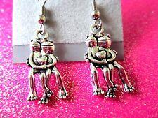 Couple Frog Dangle Earrings