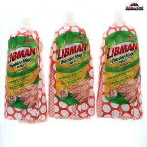 Libman Wonder 5.2 in. W x 10.6 in. L Nylon Mop Refill ~ 3 Pack