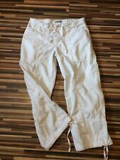 DESIGNER LADIES TROUSERS HENRI LLOYD WHITE COTTON 3/4 CROP TROUSERS W30 SIZE 12
